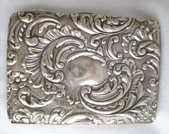 Art Nouveau sterling silver card case