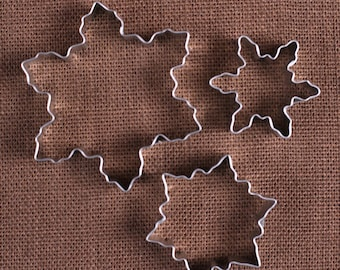 Snowflake Cookie Cutter Set, Christmas Cookie Cutters, Frozen Party Cookie Cutters, Holiday Cookie Cutters, Winter Cookie Cutters
