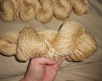 Neutral/Beige  - Linen/Cotton/Rayon Blend - 1018 yards - DK weight - Recycled, Reclaimed, Upcycled