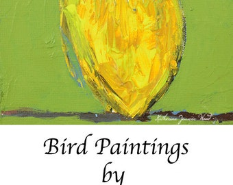 Yellow Goldfinch Bird Painting. Wildlife Animal Portrait. Art Gift for Wife. Stocking Stuffer. 99