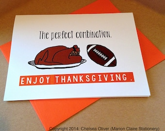 Thanksgiving Card - Food & Football