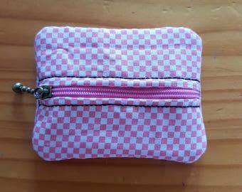 USB zipper purse