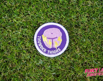 Thunder Thighs - Girth Guides patch for fat activists, Plus Size, Chubby Thighs, Fat Activism, Fat Acceptance, Fat Liberation, Body Positive