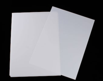 Set of 3 sheets of shrink plastic 29 x 20 cm - white