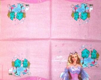 Paper 193 Barbie of swan lake Tea towel