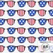 Freedom Sunglasses Fabric By The Yard / USA Fabric / Glasses Fabric / 4th of July American Flag Glasses Print in Yards & Fat Quarter
