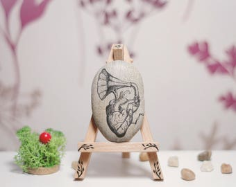 Music Gift for Men - Music Art - Music Gifts - Music Heart - Stone Art - Pebble Art - Gift for Musician - Musical Gifts for Music Teacher