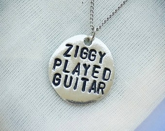 Ziggy Stardust pewter necklace