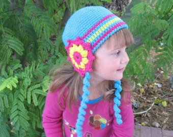 Crochet Pattern 007 - Crochet Hat Pattern - Hat Crochet Pattern for Alicia Hat - Baby Girl Toddler Children Teen/Adult Winter Hat  Flowers