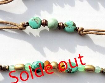Genuine natural turquoise bracelet