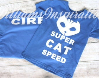 Cat Boy Super CAT Speed Personalized Shirt for Kids