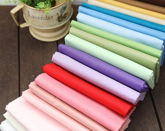Semi-sheer Cotton Fabric Lightweight - 20 Solid Colors - By the Yard 22945 - 100
