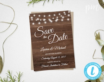 Save The Date Template Floral DIY Save The Date Card