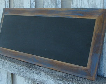 Chalkboard with blue trim