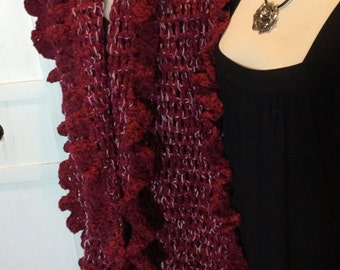 Scarf Wrap Stole,Handcrochet,Long