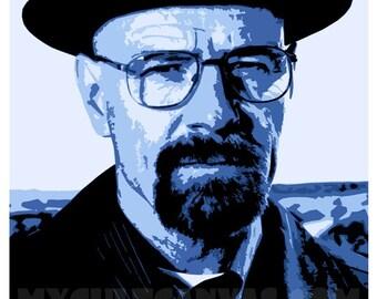 """Original Breaking Bad """"Heisenberg"""" Walter White Art Print Poster"""
