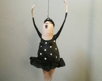 Ballerina, dancer, cardboard figure