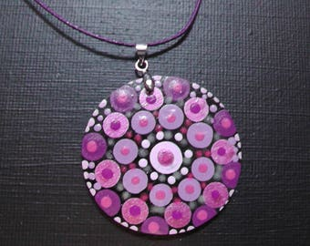 Mandala Dot Painting,Hand Painted Pendant