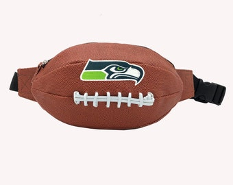 Seattle Seahawks Football Shape Fanny Pack