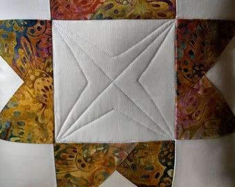 Quilted Star Batik Pillow