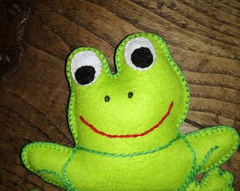 FROG CUTE PUPPET, ready to ship, gift idea, felt puppet, cute, collection
