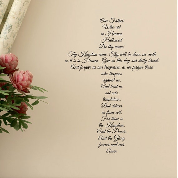 The Lord S Love Wall Decal: Prayer Decal Prayer Stickers The Lords Prayer Christian