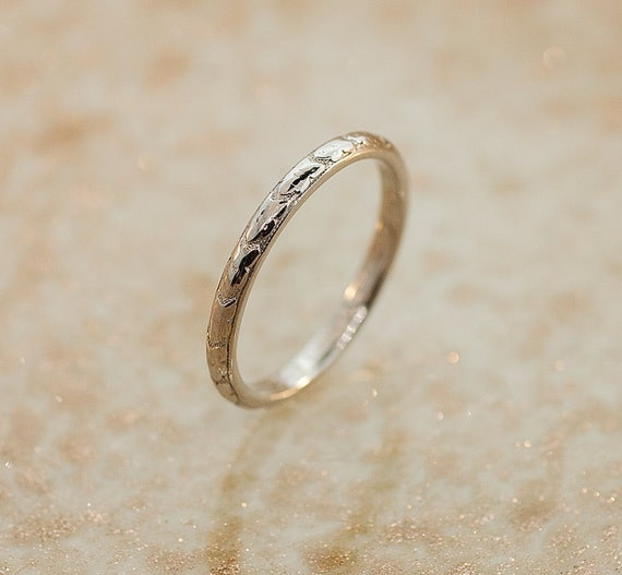 Items similar to Antique Platinum Wedding Band on Etsy