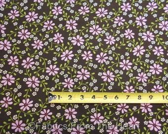 MayApple Purple Flowers on Earth Vines BY YARDS Michael Miller Cotton Fabric