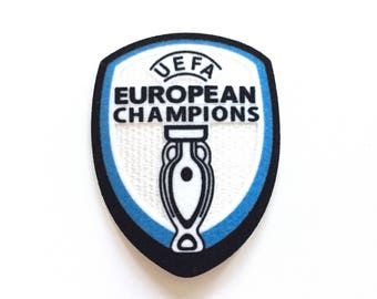 """European Champions Iron on Embroidered patch (L=2.5"""" W=3.0"""")"""