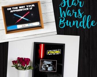 Star Wars Announcement Bundle - Instant Download - Pregnancy Announcement