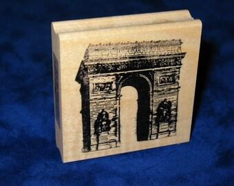 Arc de Triumph Paris Rubber Stamp