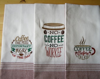 Coffee 3 Set Kitchen Towel
