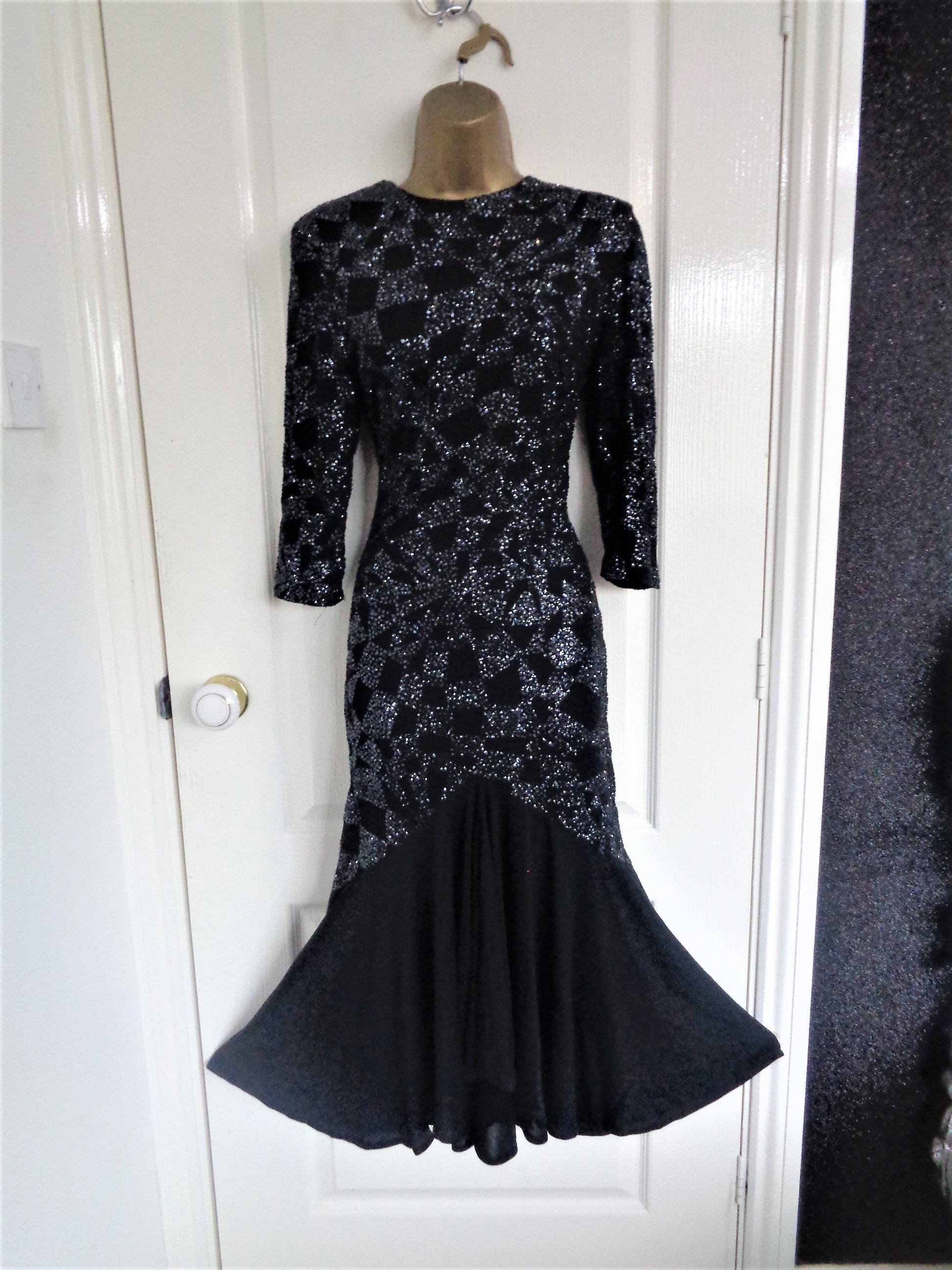 Richards vintage black beaded dress from 80\'s UK 10 US 6