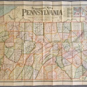 Folding map Etsy