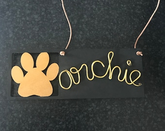 Personalised dog wall hanging