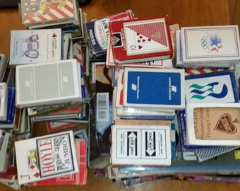 Lot of 30 playing card sets cheap new and used