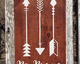 Rustic be brave wood sign - hand painted wood sign - arrow sign - nursery sign - inspirational sign - motivational sign