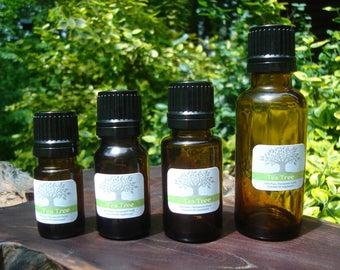 Tea Tree Essential Oil - 100% Pure, Natural 5 10 15 30 60 mL, 1 2 oz