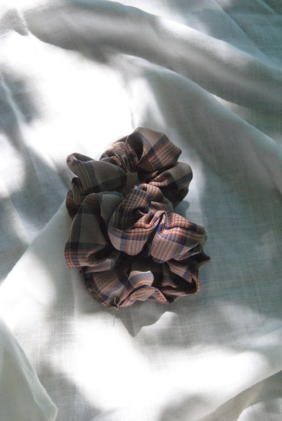 Plaid Hair Scrunchie  |  Add-on Item