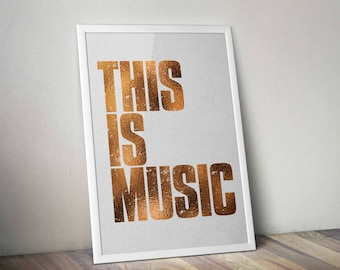The Verve This Is Music limited edition A2 print