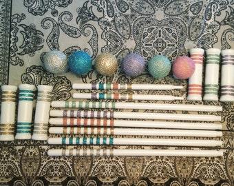 Glittered Croquet Set