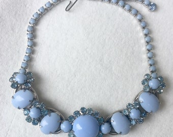 Juliana Delizza & Necklace * Classic 5 Link * Vintage * Robins Egg Blue * Mint