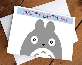 TOTORO CARD // my neighbor totoro, anime, japanese, christmas, holiday, festive, greeting card, cute, love, friendship, birthday
