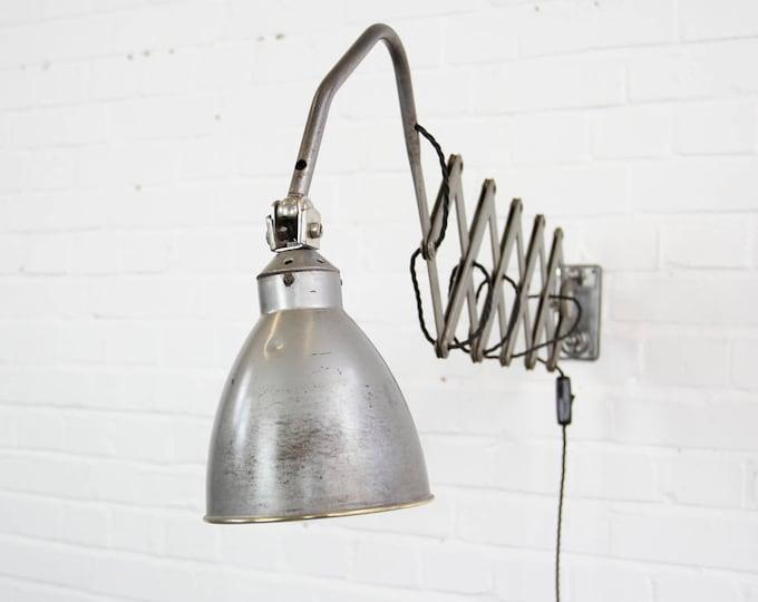 Large Industrial Scissor Lamp By AGI Circa 1930s