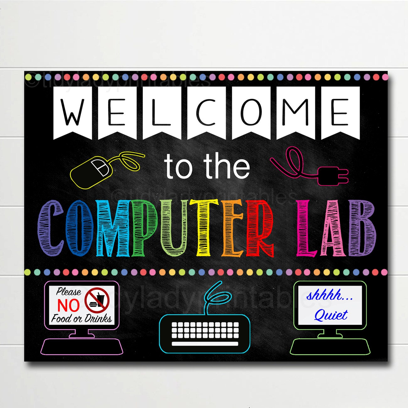 Computer Lab Decoration Pics ~ Computer lab school sign classroom decor teacher door