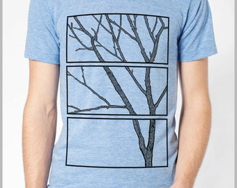 Men's Tree T Shirt Nature Tshirt American Apparel xs, s, m, l, xl Full Spectrum Apparel