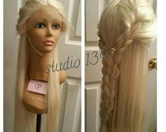 Blonde braided lace front wig 24inches