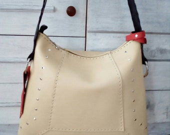 New unique handmade leather bag in yellow!