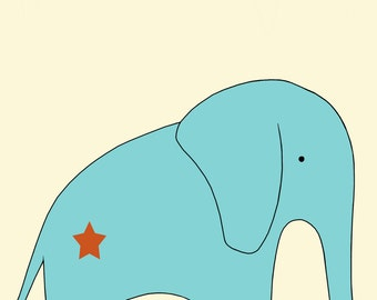 Elephant Print, Fine Art Print by Kate Durkin