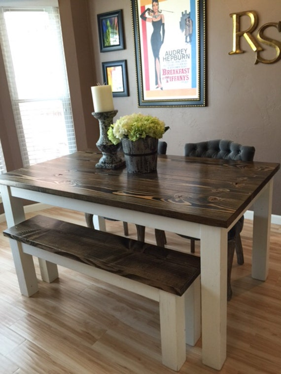 Rustic Cherry Rectangular Table Formal Dining Room Set: Farmhouse Table Solid Wood Farmhouse Dining Table